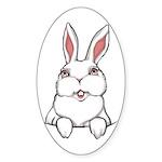 Easter Bunny Sticker (Oval 10 pk)