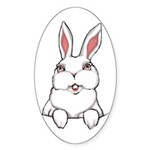 Easter Bunny Sticker (Oval)