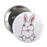 """Easter Bunny 2.25"""" Button Bunny Rabbit Button"""