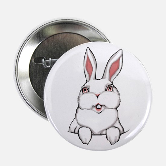"Easter Bunny 2.25"" Button Bunny Rabbit Button"