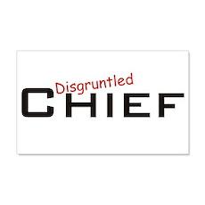 Disgruntled Chief 22x14 Wall Peel