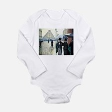 Paris Street, Rainy Day Long Sleeve Infant Bodysui