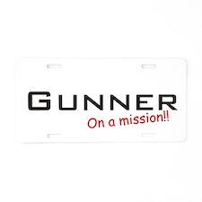 Gunner/Mission Aluminum License Plate