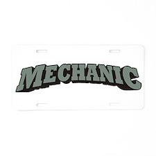 Mechanic Aluminum License Plate
