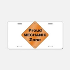 Mechanic / Proud Aluminum License Plate