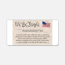 Amendment VII Aluminum License Plate