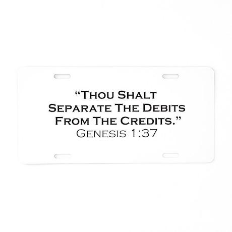 Credits / Genesis Aluminum License Plate