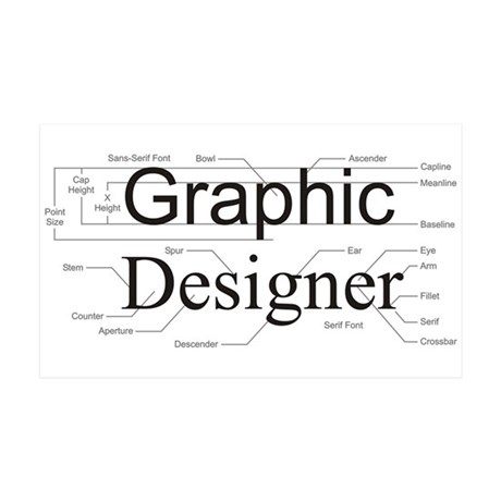 Graphic Designer 38.5 x 24.5 Wall Peel