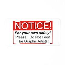 Notice / Graphic Artists Aluminum License Plate