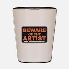Beware / Artist Shot Glass