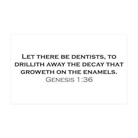 Dentists / Genesis 38.5 x 24.5 Wall Peel