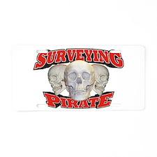Surveying Pirate Aluminum License Plate