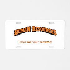 HR / Resume Aluminum License Plate