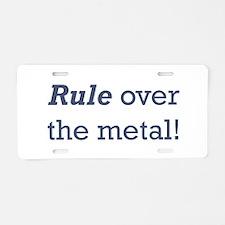 Machinist / Metal Aluminum License Plate