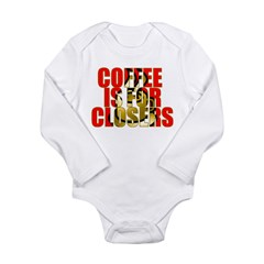 Coffee is for Closers Red Long Sleeve Infant Bodys