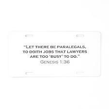 Paralegal / Genesis Aluminum License Plate