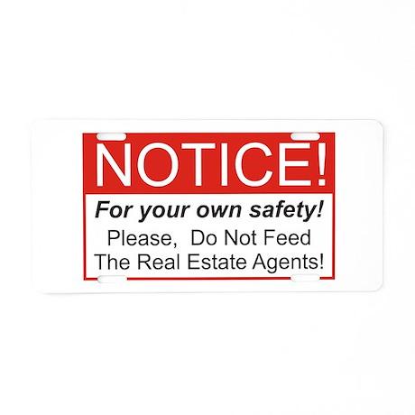 Notice / Real Estate Aluminum License Plate