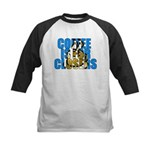 Coffee is for Closers Blue Kids Baseball Jersey