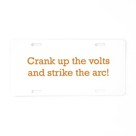 Volts! Aluminum License Plate