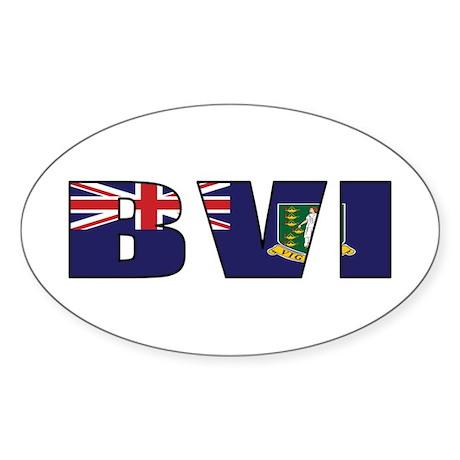 BVI Sticker (Oval)