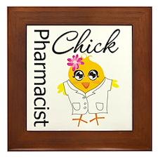 Pharmacist Chick Framed Tile