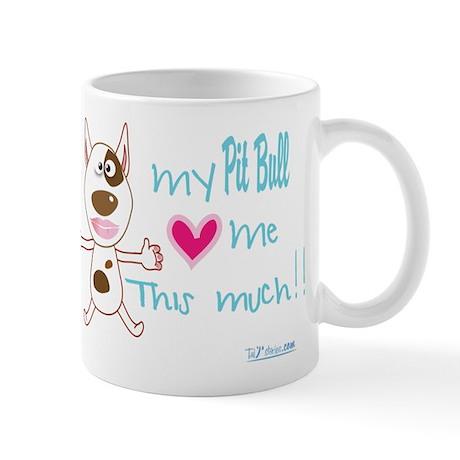 my pit loves mel Mugs