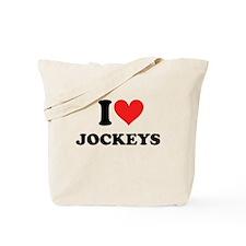 I Heart Jockeys: Tote Bag