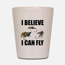 I Believe I Can Fly Shot Glass