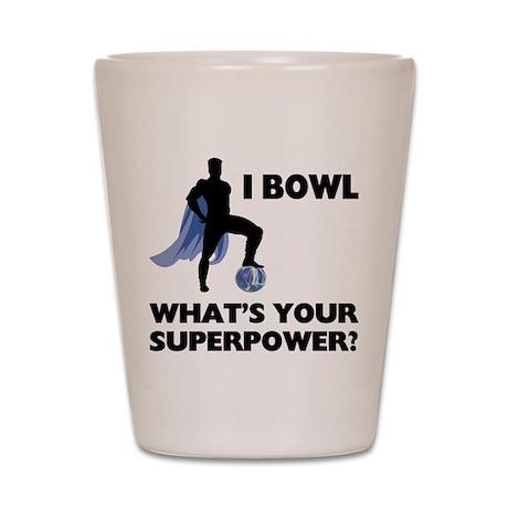 Bowling Superhero Shot Glass