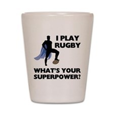 Rugby Superhero Shot Glass