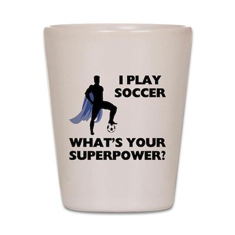 Soccer Superhero Shot Glass