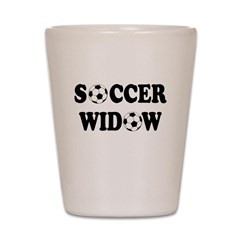 Soccer Widow Shot Glass