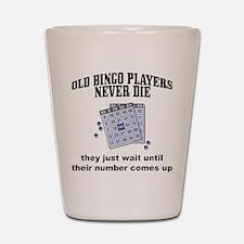 Old Bingo Players Shot Glass