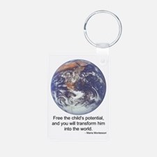 Funny Montessori Aluminum Photo Keychain