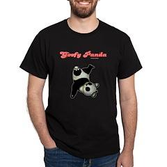 Goofy Panda Black T-Shirt