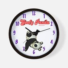 Goofy Panda Wall Clock