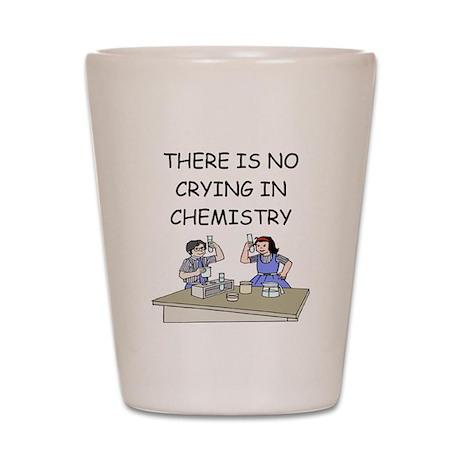 funny chemistry Shot Glass