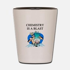 funny chemistry jokes Shot Glass