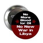 No More Blood for Oil Libya button