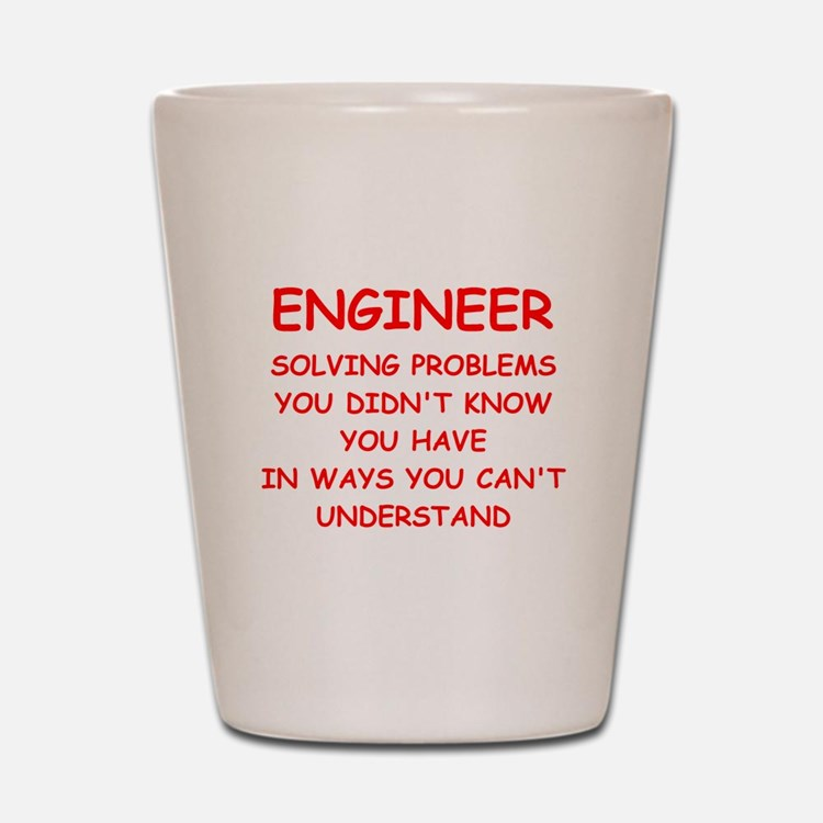 funny science joke Shot Glass