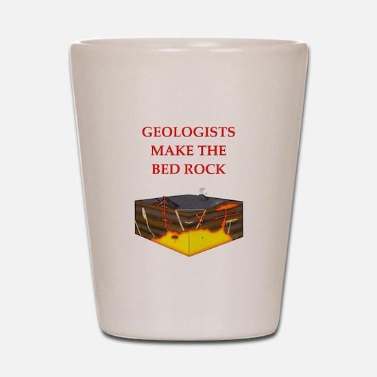i love geology Shot Glass