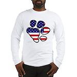 Patriotic Paw Long Sleeve T-Shirt