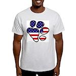 Patriotic Paw Ash Grey T-Shirt