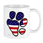 Patriotic Paw Print Mug