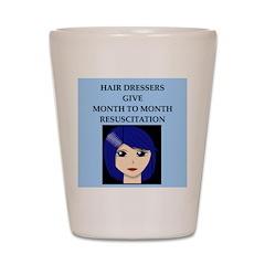 hairdresser beautician Shot Glass