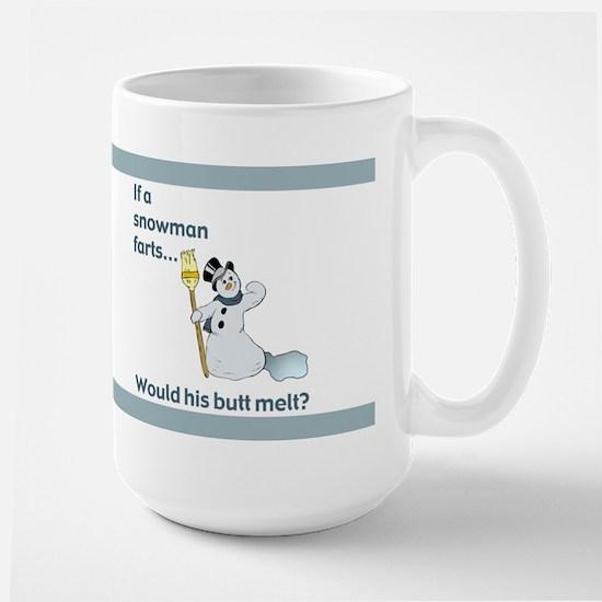 Snowman Fart Large Mug