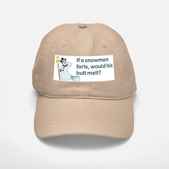 Snowman Fart Baseball Baseball Cap