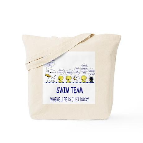 Swim Ducky Tote Bag