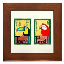 Vintage Postcards Framed Tile