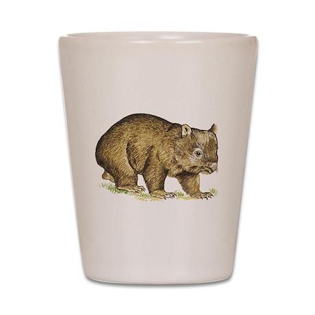 Wombat drawing Shot Glass